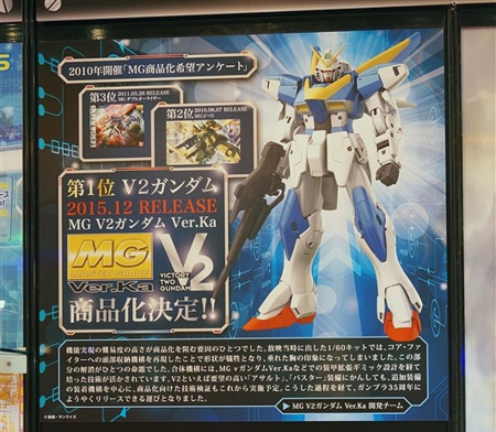MG 1/100 V2 Gundam Ver. Ka esposto all'All Japan Model & Hobby Show 2015